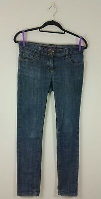 next womens blue jeans size 10 W30 L28 slim skinny pants ladies blogger chic