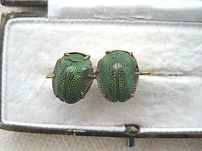 Rare Edwardian/Deco? Egyptian Revival Genuine Double Scarab Brooch/Pin