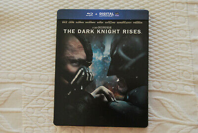 THE DARK KNIGHT RISES Steelbook 2 bluray Christian Bale Tom Hardy NEUF
