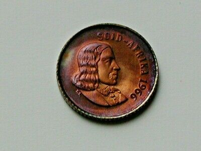 1966 South Africa coin 1 CENT   SPARROWS   unc beauty   classic coin