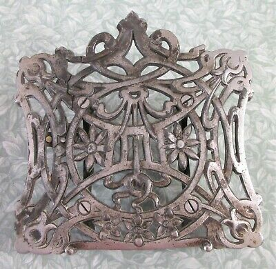 ANTIQUE FRENCH CAST IRON ART NOUVEAU BOOK REST Table-top Stand Lectern