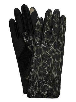Isotoner Smart Touch Womens Black Snake Print Tech & Text Gloves Smartouch