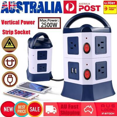 7 Ways Surge Protector Power Board Outlets Socket 2Level vertical socket 2USB