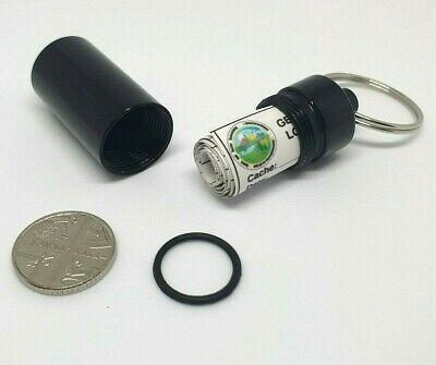 Single, 5 or 10 x Waterproof Black Bison Tube Geocache Containers w/ RITR Logs