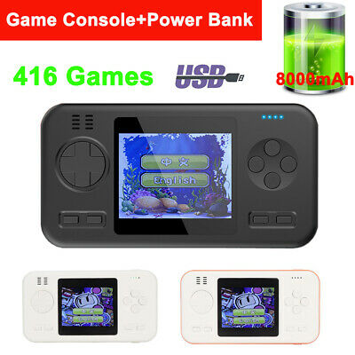 8000mAh Handheld Video Game Console Player Power Bank Phone USB Charger Backup