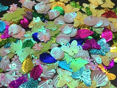 600pcs x Sequin Leaves Butterflies Flowers Sewing MIX Craft Confetti Sequins