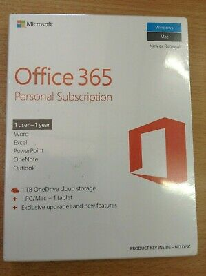 Office 365 Personal Subscription 1 User 1 Year