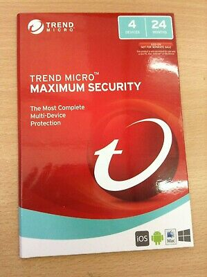 Trend Micro Maximum Security 4 Devices 24 Months Windows Ios Mac Android
