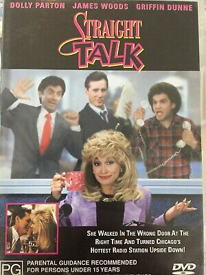 STRAIGHT TALK DVD Barnet Kellman 1992 AS NEW! Dolly Parton