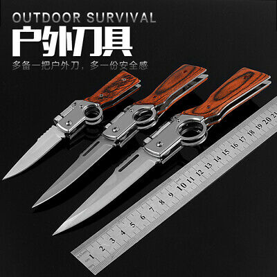 Pocket Folding Knife With Light Multi Use Tactical Hunting Knives Outdoor Tools