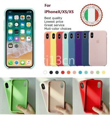 Per Apple iPhone XR XS XSMax Custodia Cover originale in silicone rigido lusso