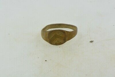 Antique Roman Byzantine Medieval bronze child ring 100-1200 AD #35 Size 3 1/4