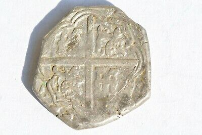 1500s-1600s Spanish Silver 8 Real Colonial Pirate Coin 10.84gr