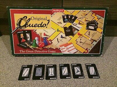 Vintage Cluedo Full Set of Spare Murder Weapon Cards