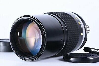 """Near Mint"" Nikon Ai-S Nikkor 200mm f/4 MF Lens F Mount Telephoto From Japan"