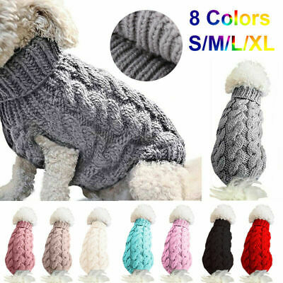 Fashion Knitted Puppy Dog Jumper Sweater Pet Clothes For Small Dogs Warm Coat UK