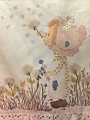 CM Betsey Clark Crewel Pillow Kit 7928 1972 Hallmark Cards Betsey's Wish Sealed