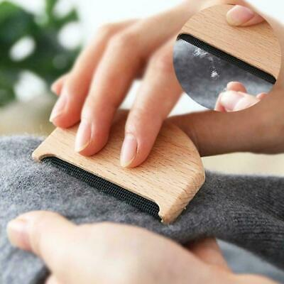 Wooden Fabric Clothes Sweater Manual Lint Trimmer Shaver Care Comb New Garm V0T6
