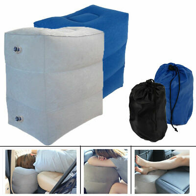 Portable Inflatable Travel Pillow Airplane Footrest Leg Rest Pillow Cushion New