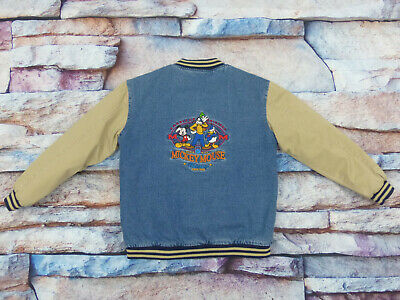 *Mickey Mouse Disney College Baseball Casual Winter Jacke*Vintage*Gr 164*Tip Top