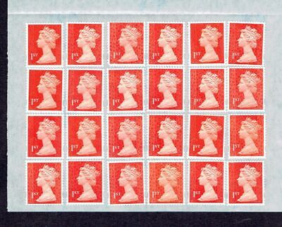 24 Unfranked 1st Class Self-adhesive Stamps FV £16.80