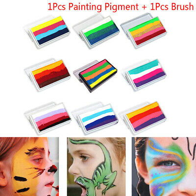 Rainbow Body Face Paint Makeup Painting Pigment Multicolor Body Halloween  ZB