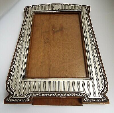 Stunning Large Decorative English Antique 1911 Solid Sterling Silver Photo Frame