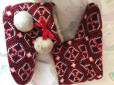 Girls Slippers Boot Style M&S Size 2 Good Condition