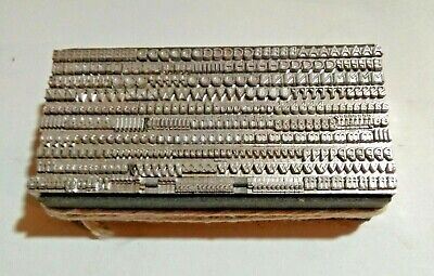 12 point GILL SANS MEDIUM 8A upper & lower case Letterpress Metal Printing Type