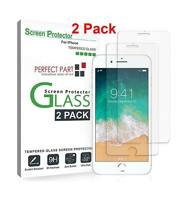 2-Pack Screen Protector Tempered Glass For iPhone 6 7 8 Plus X Xs Max XR 11 Pro