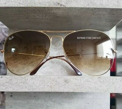 Ray Ban aviator 3025 001-51 Brown Gradient - Gold frame SIZE 58mm NEW Unisex