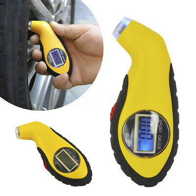 Tyre Air Pressure Gauge Meter Electronic Digital LCD Car Bike Tire Tester L1F