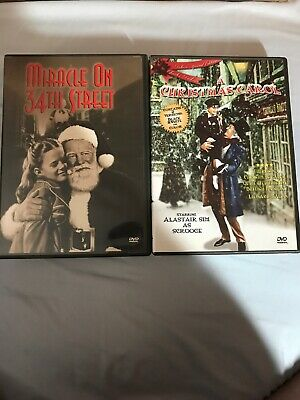 Miracle On 34th Street & A Christmas Carol Dvd's