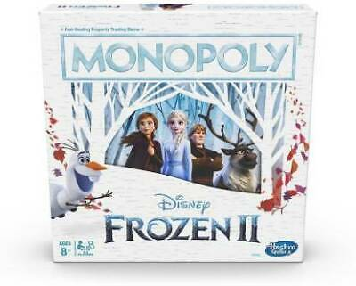 USED Monopoly Game: Disney Frozen 2 Edition Board Game for Ages 8 & Up