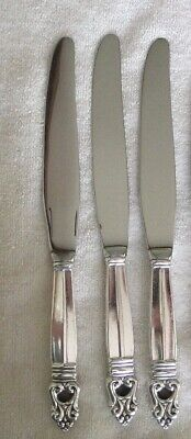 "International Royal Danish Sterling Silver Luncheon Knife 8 7/8""  no monogram"