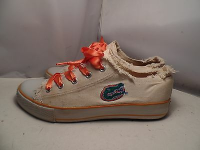 University of Florida Gators Womens Embroidered Canvas Spirit Sneakers B71