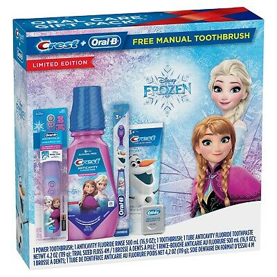 **NEW**  CREST + ORAL B Limited Edition FROZEN 2 Toothbrush Bundle Kit