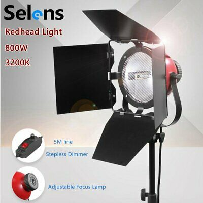 800W Redhead Continuous Lighting Video Studio Photo Red Head Light Focus Kit AU
