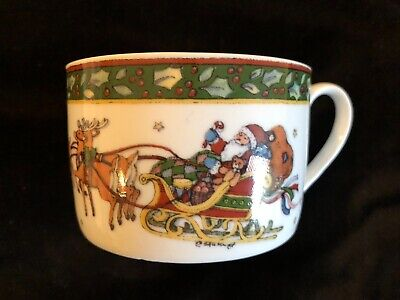 SUSAN WINGET Portmeirion Studio A Christmas Story Cup ~ 4 Available