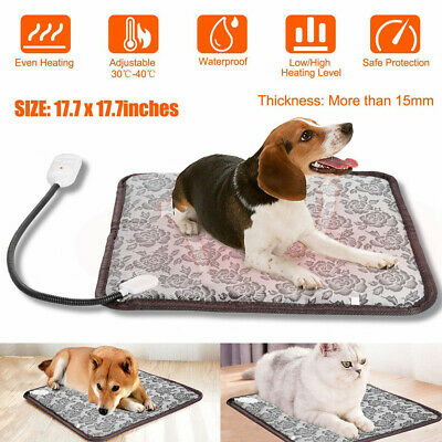 Pets Dog Cat Waterproof Heated Pad Bed Puppy Warmer Electric Heating Mat