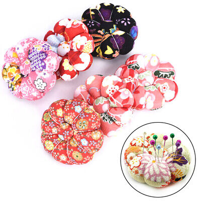Cute Pumpkin Shape Holder Sewing Craft Stitch Needlework Needles Pin Cushion ex
