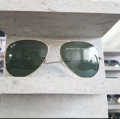 Ray Ban aviator 3025 L0205 Green G15 Gold SIZE 55mm 58mm 62mm NEW Classic