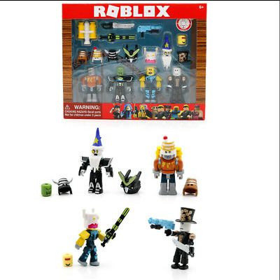 Roblox Robot Riot Mix & Match Set PVC Game Toy Includes 4 Pcs Box Kids Gift