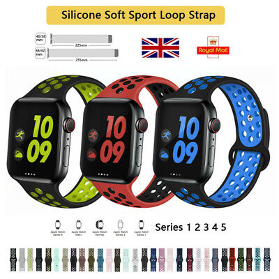 For Apple Watch iWatch Strap Series 5 4 3 2 1, Soft Mesh Silicone Sport Band UK