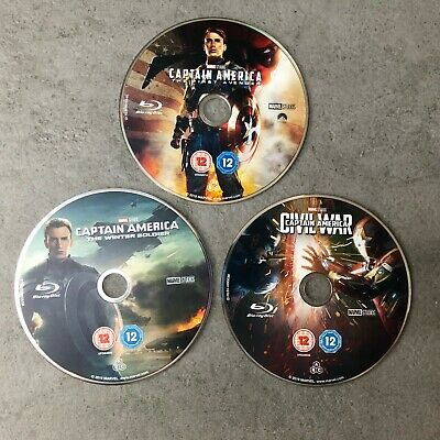 Captain America Marvel Movies Trilogy, Blu-Ray, New, Perfect!!!!!