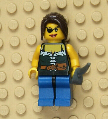 MINI FIG // MINI FIGURE LEGO 6253 Blue Legs PIRATES Female
