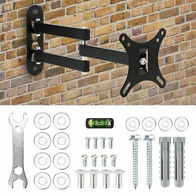 TV WALL MOUNT BRACKET LCD LED Plasma Flat Slim Pivot/Swivel Arms & Tilt 14-25''