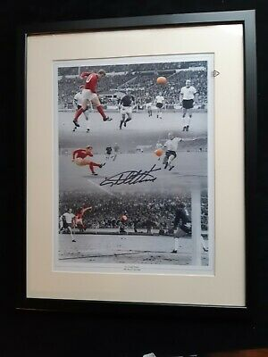 """West Ham / England, hand signed by Geoff Hurst & Framed to 16"""" x 20"""" with COA"""