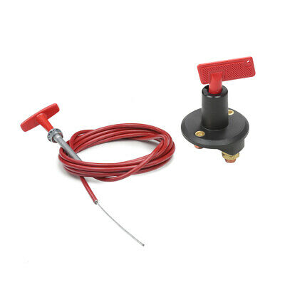 Tegiwa Battery Master Cut-Out Switch Isolator Kill Switch & 10Ft Pull Cord