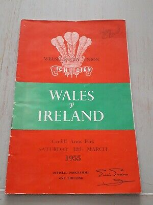1955 Wales V Ireland Five Nations Champions International Rugby Union Programme